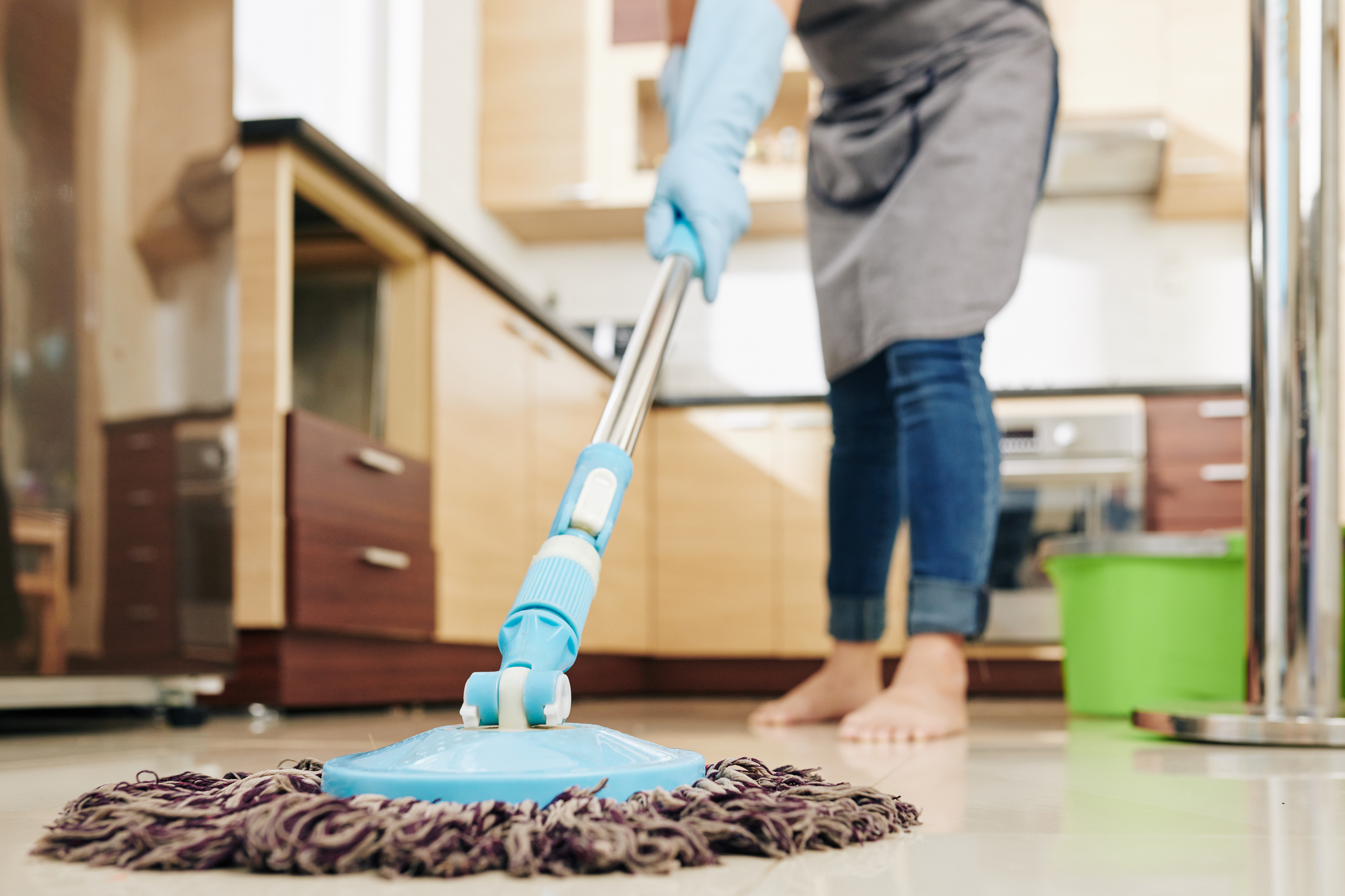 woman-mopping-floor